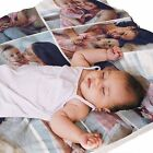 BABY BLANKET Custom YOUR BABY's Photo Images NURSERY Plush PERSONALIZED Cot Pram