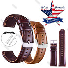 20 22mm Quick Release Leather Watch Band Wrist Strap For Samsung Gear S2 S3  image