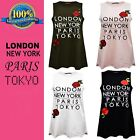Ladies LONDON NEW YORK PARIS TOKYO Red Flower Sleeveless Swing Top Dress UK 8-14