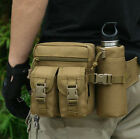 Men's Outdoor Tactical Military Travel Hiking Water Bottle Fanny Pack Waist Bag