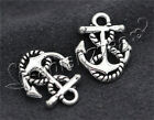 Hot 10/40/200pcs Antique Silver Beautiful Boat anchor Jewelry Pendant 17x14mm F