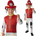 Boys Paw Patrol Marshall Costume Fancy Dress Fire Fighter Book Day Dog Kid Child