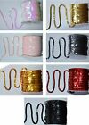 2m Metre Meter of Paillettes Sequin Trim Dress Sewing, 6mm Ribbon Trimming Craft