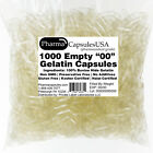 Empty Gelatin Capsules Sizes 000 00 0 1 2 3 4 Free Ship USA Pharmacist Approved