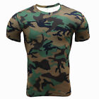 Men Compression Workout Quick-dry Shirt Camo Style Gym Sportswear Fitness Tops