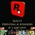 CHEAP PVC VINYL BANNER - INDOOR OUTDOOR - PERSONALISED PARTY EVENT - FREE P&P