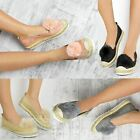 Womens Ladies Girls Faux Fur Pom Pom Espadrilles Flat Shoes Fluffy Sandals Size