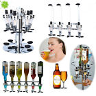 Wall Mounted Bottles Rotary Stand Wine Liquor Drink Dispenser Home Bar Butler US