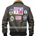 Cordura Jacket - Tom Cruise TOP GUN Pete Maverick's Bomber Brown Jacket