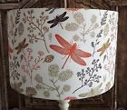 Dragonfly Lampshade Shabby Chic vintage orange brown cream FREE GIFT