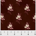 SAVANNAH CLASSIC ROSE TOILE  BROWN P&B QUILT SEWING FABRIC *Free Oz Post