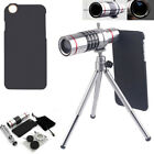 For iPhone 7 Plus 6 6s 18X Optical Zoom Telescope Camera Lens +Tripod Kit + Case