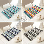 CHENILLE SOFT TOUCH MICROSTRIPE HEAVY WEIGHT BATH MAT RUG SILVER GREY BLUE TEAL