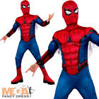 Deluxe Spiderman Homecoming Boys Fancy Dress Superhero Book Day Childs Costume
