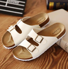 Womens Mens Sandals Wedges Fashion Birkenstock Cork Slippers Beach Casual Shoes
