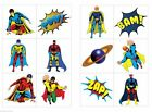 Childrens 36 or 72 Super hero temporary tattoos party bag stocking fillers