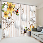 3D Squid Lily 3 Blockout Photo Curtain Printing Curtains Drapes Fabric Window US
