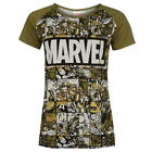 LADIES WOMENS MARVEL CHARACTER CREW NECK SHORT SLEEVE T SHIRT SIZE 8-18