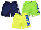 Boys New York Miami Motif Mesh Lined Neon Swim Shorts 5-14 Years SALE