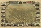 Poster Print Antique American Cities Towns States Map San Jose California