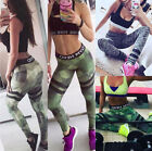 Women Sports Leggings Camouflage Printed Oversize Pants Stretch Trousers Workout