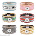 New Fashion Womens Mens Multi-layer Snap Bracelet Fit Snap Buttons 210MM