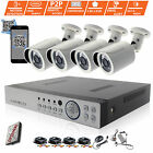 CCTV 4 Channel 1080P DVR Outdoor 1080P 2.4MP Camera Home Security System Kit