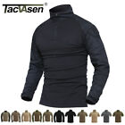 TACVASEN Tactical Military Combat Shirt Pullover Heat Resistant Moisture Wicking