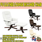 Office  Recliner Chair Combo w/ Ottoman Footrest Set Pack Black White