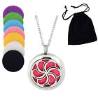 35-Style Aroma Necklace Stainless Steel Essential Oil Diffuser Locket Size 30mm