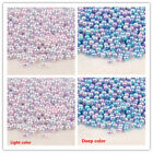 Wholesale 100-2000pcs 3-12mm Iridescence Abs Plastic Pearl Beads Accessories Diy
