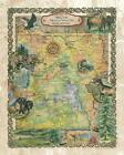 156 Hiking trail of Yellowstone National park vintage historic antique map print