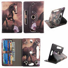 For Kindle fire HD 8 inch PU Leather Slim Folio Stand ID Slots Cover Case we-9
