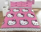 Character World Hello Kitty Sommer Wind Childrens Reversible Double Duvet Set