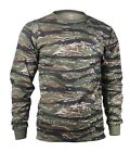 Rothco Tiger Stripe Camo MENS Long Sleeve Tactical Military T-Shirt S TO 4X image