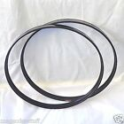"2 BASS DRUM 22"" HOOPS - Black Metal - Needs T Rod & Claw Kick Drum Parts"