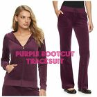 NWT Juicy Couture Velour Tracksuit Women Solid Jacket Bootcut Pants Xs  XL
