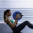 6/10/12/14/18/20/28/30LBS Soft Weighted Medicine Ball Wall Ball for Workout Blue