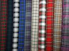 "High Quality Poly Viscose Tartan Fabric 150cm 59"" Wide Half Metre, 1 Metre"
