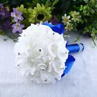 Bridal Bride Wedding Rose Flower Bouquet Bridesmaid Banquet Home Room Decor US
