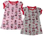Girls Disney All Over Minnie Mouse Bows Print Short Sleeve Dress 6 to 23 Months