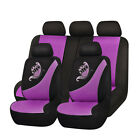 butterfly car seat covers - Purple Car Seat Covers Butterfly Embroidery Universal Fit 5 Seaters Protectors