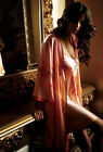 NWT Pure Heavy Weight Silk Women's  Embroidery Robe/Gown Set  8200