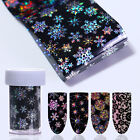Nail Foil Holo Starry Transfer Sticker Snowflake Star Rose Lace Flower Design