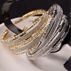 Crystal Rhinestone Large Big Ear Hook Hoop Earrings Fashion Women Jewelry