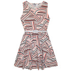 NEW Girls Geometric Print Skater Dress Ages 9-10 Years