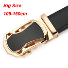 Top quality Men's Belts Cow Leather belt Gold  Automatic Buckle belt all size