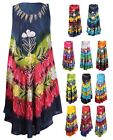 Womens Plus Size Flower Embroidery Print Sleeveless Flare Lace Ladies Long Dress