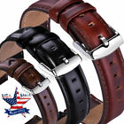 18 20 22mm Quick Release Genuine Leather Wristwatch Bands Wrist Strap Bracelet  image