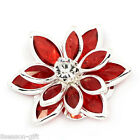 Wholesale Lotus Embellishment Findings Rhinestone Flatback Red 23mmx24mm